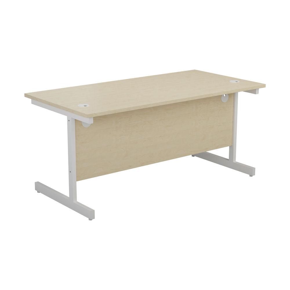 Jemini 1400x800mm Maple/White Single Rectangular Desk
