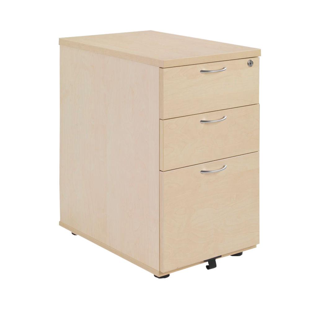 Jemini 600mm Maple 3 Drawer Desk Pedestal