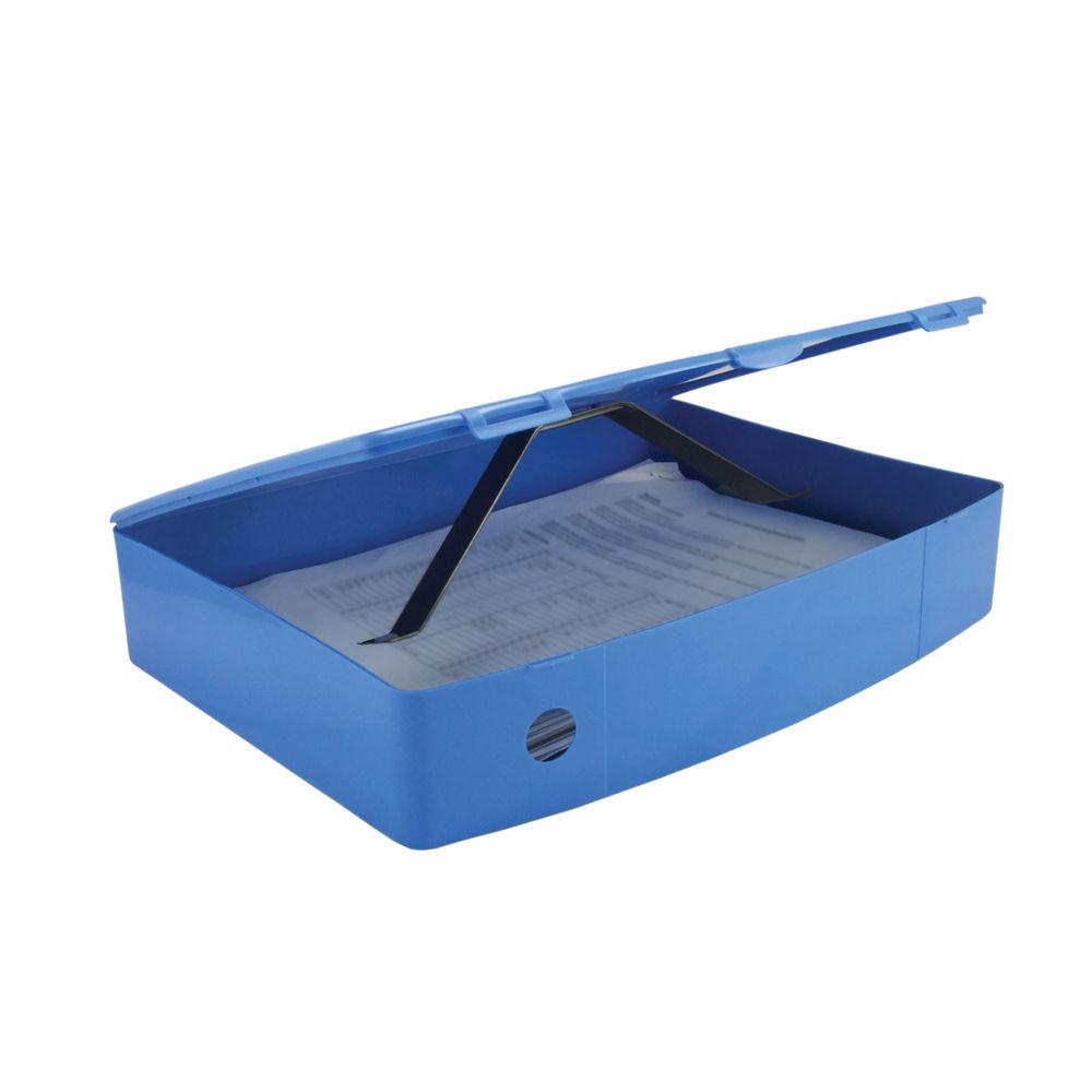 Q-Connect Blue Foolscap Polypropylene Box File - KF04103
