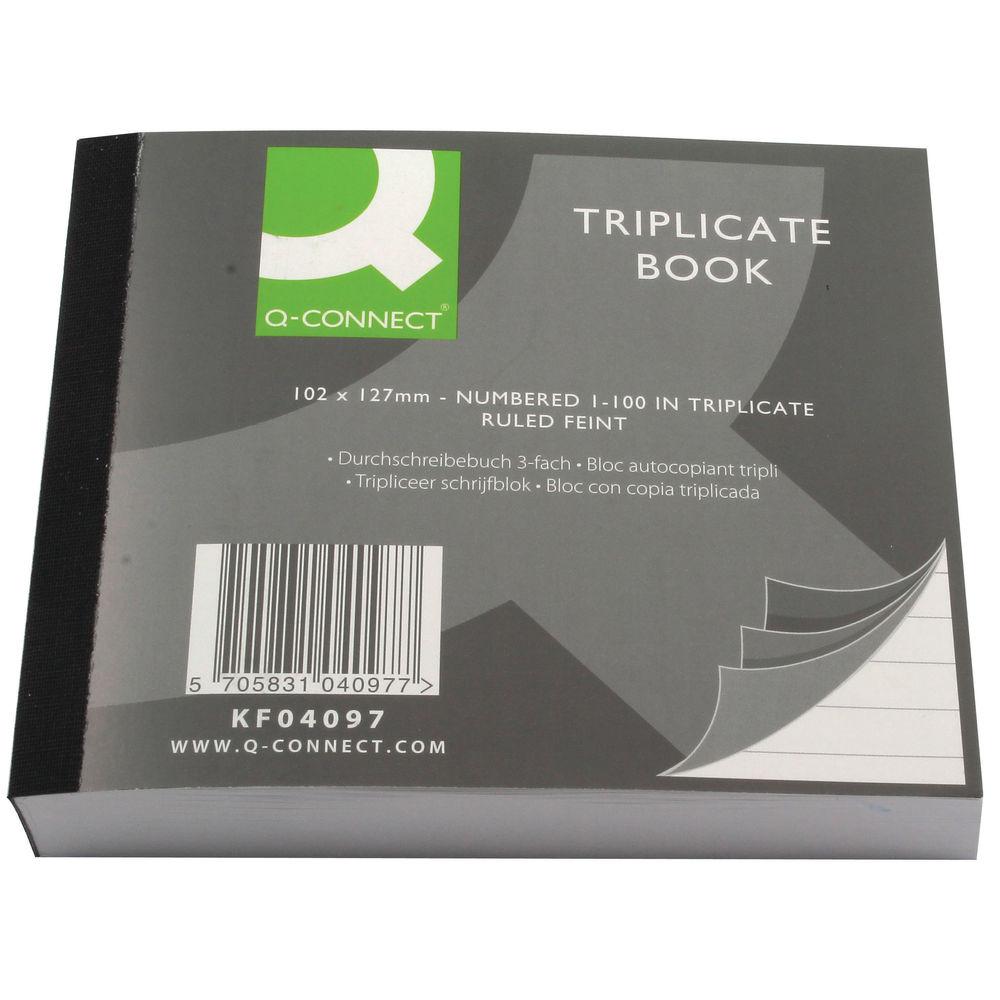 Q-Connect 102 x 127mm Triplicate Book - KF04097