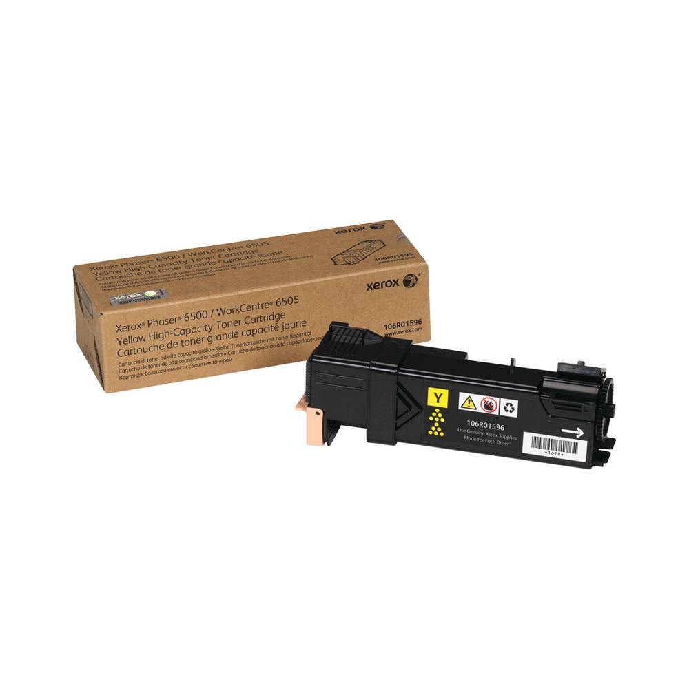 Xerox Phaser 6500 High Capacity Yellow Toner Cartridge - 106R01596