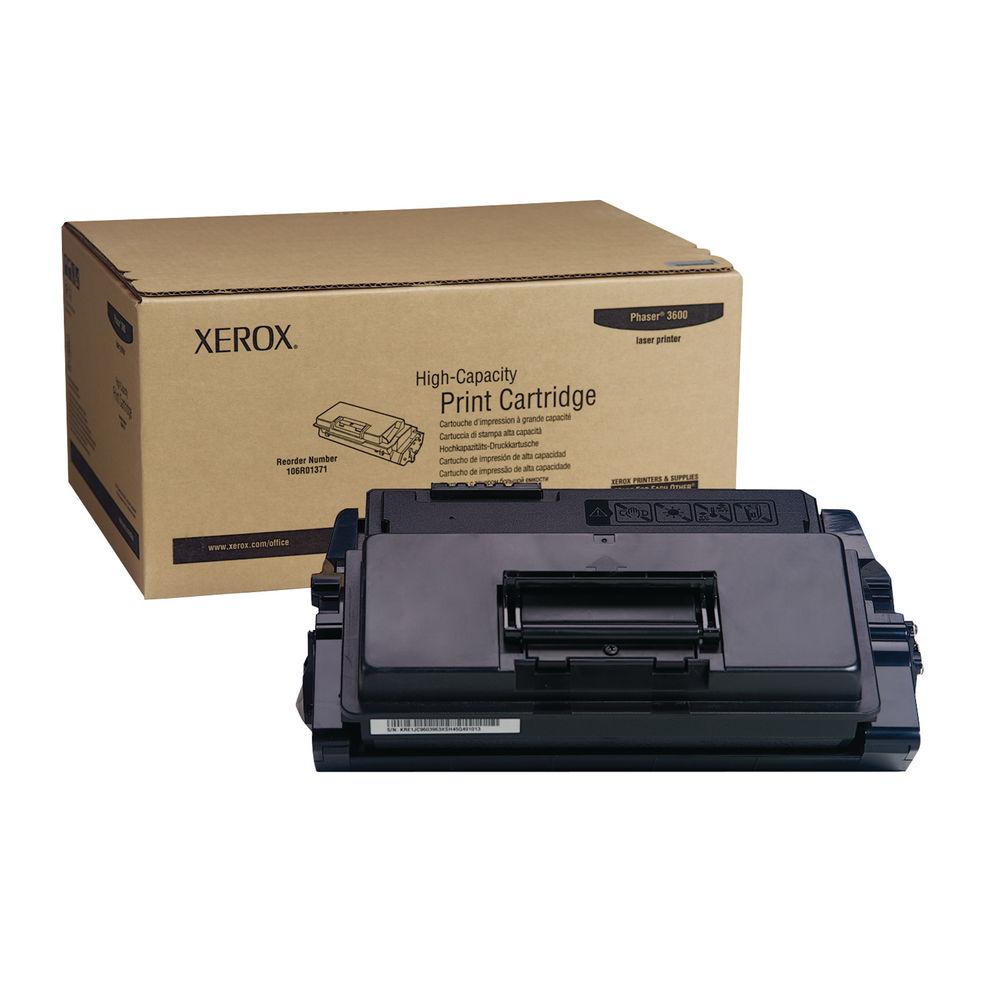 Xerox 3600 Black Toner Cartridge - High Capacity 106R01371