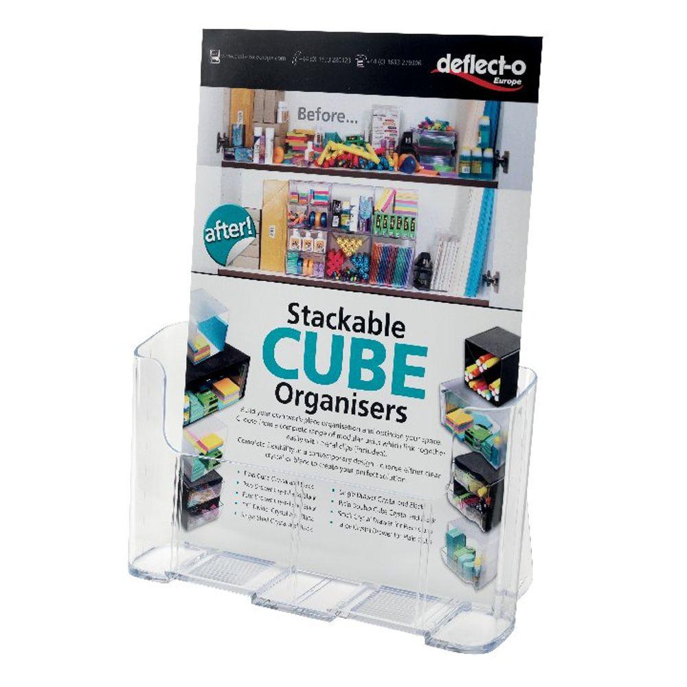 Deflecto Clear A4 Literature Holder - DE770YTCRY