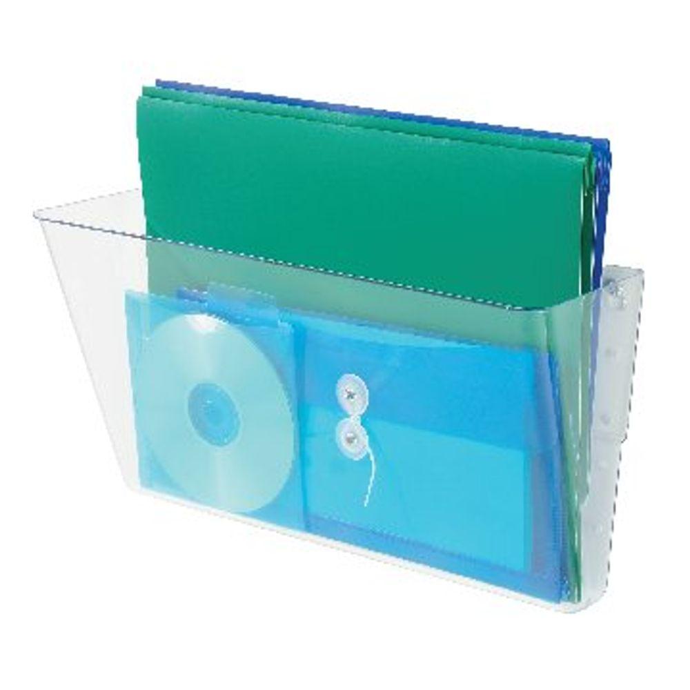 Deflecto Clear A4 Linking Wall File Pocket - DE732YTCRY