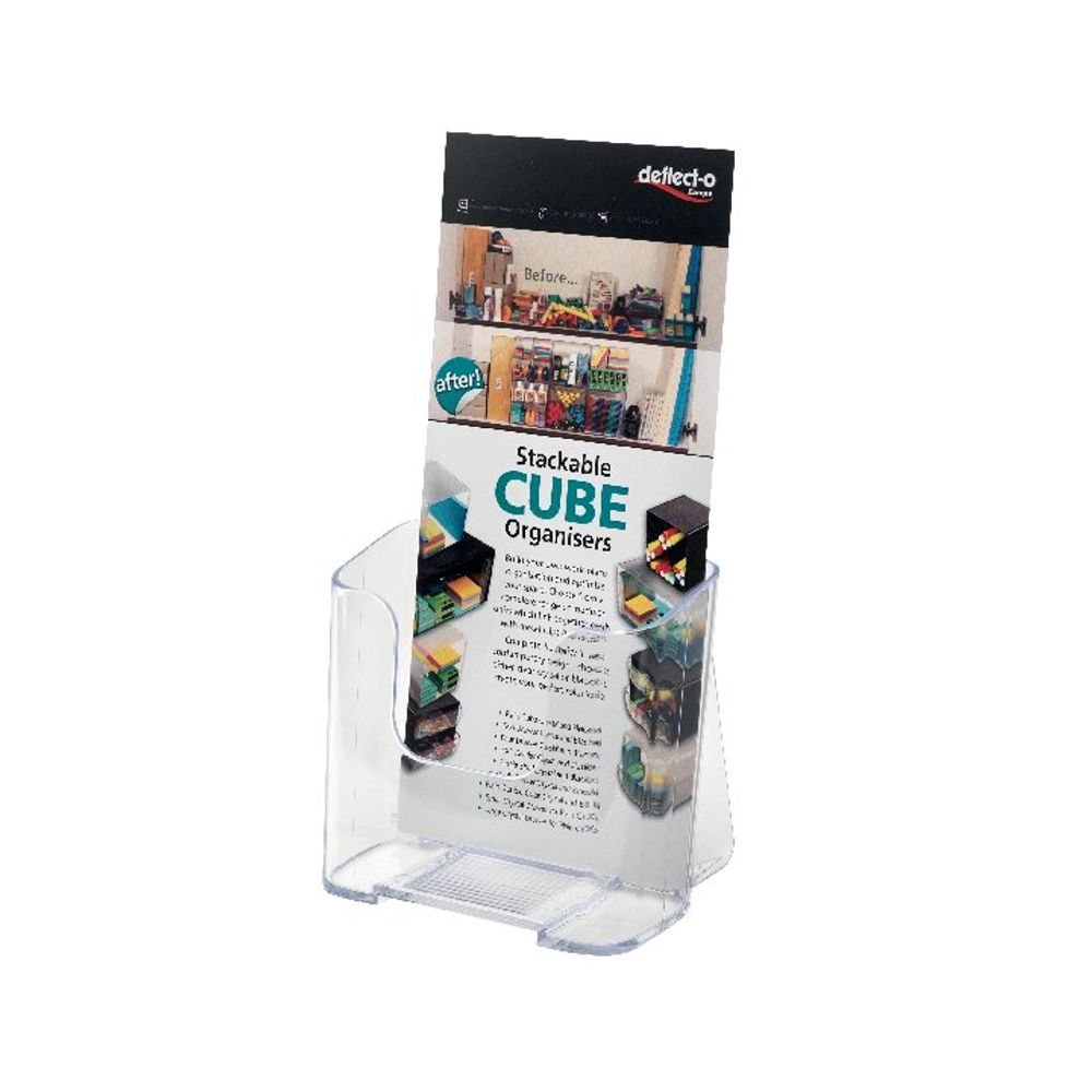 Deflecto Clear DL Literature Holder - DE775YTCRY