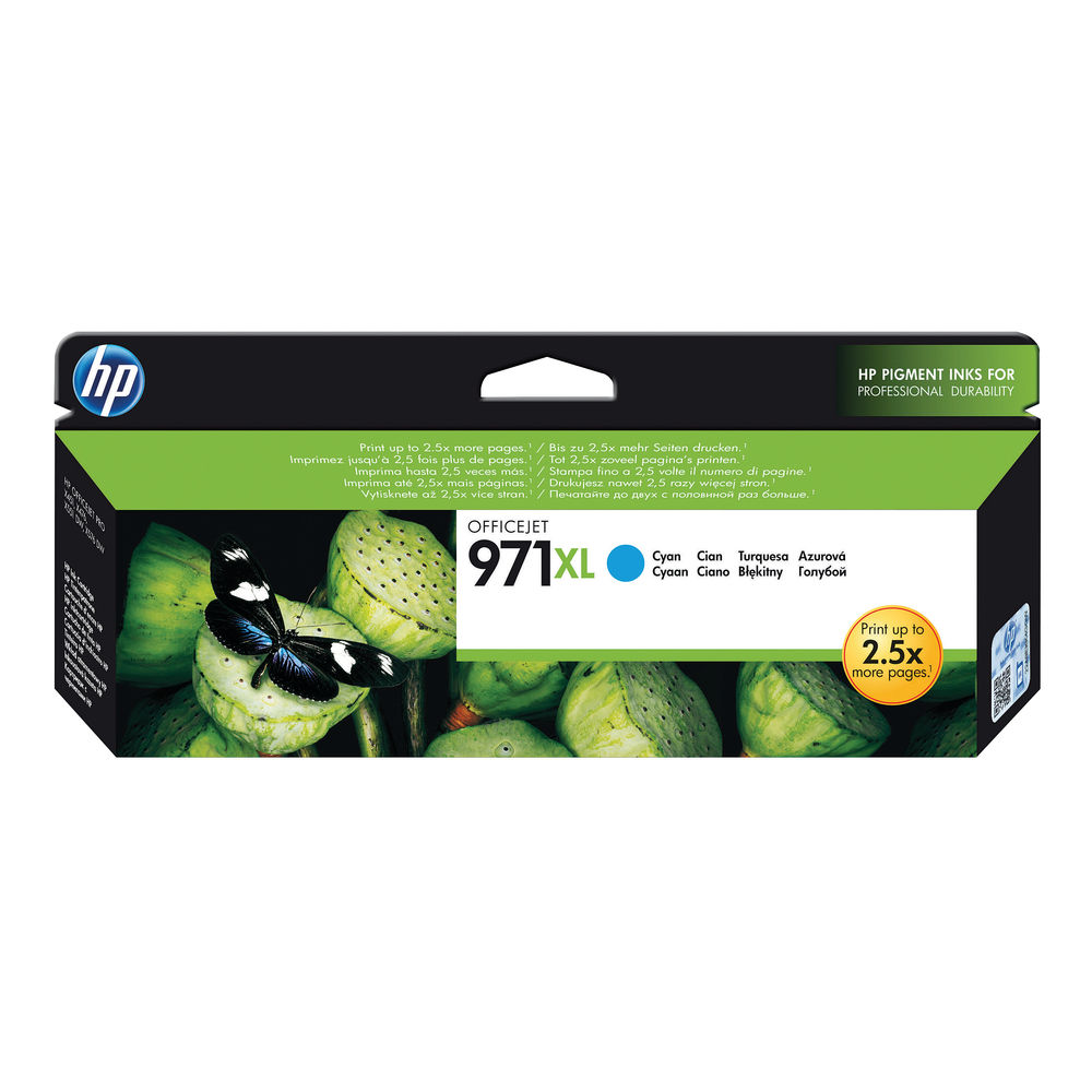 HP 971Xl Cyan Ink Cartridge CN626AE