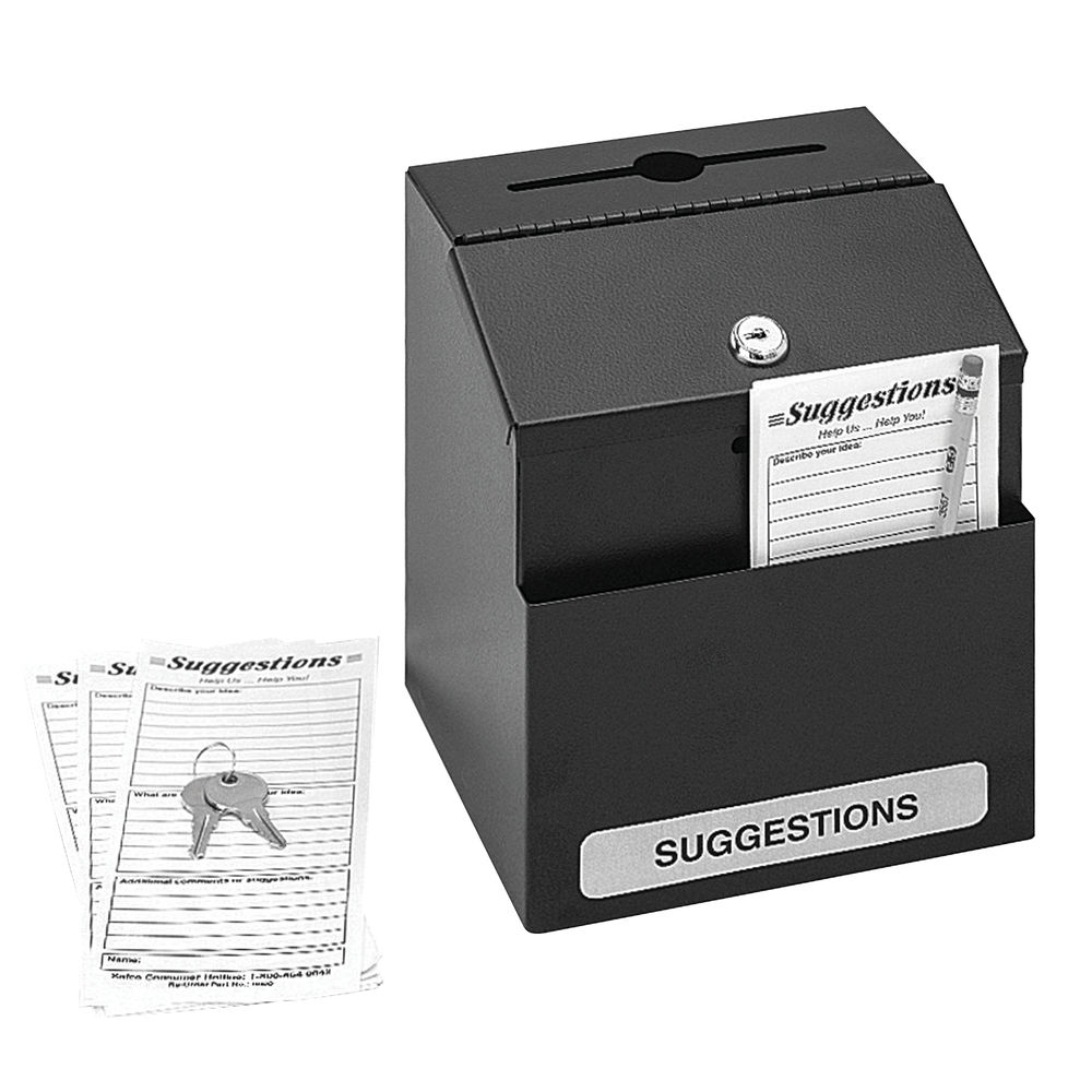 Safco Black Locking Suggestion Box - 4232BL