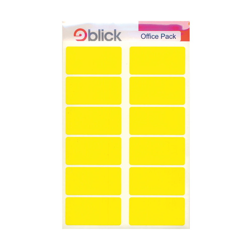 Blick Yellow 25mm x 50mm Labels, Pack of 320 - RS020158