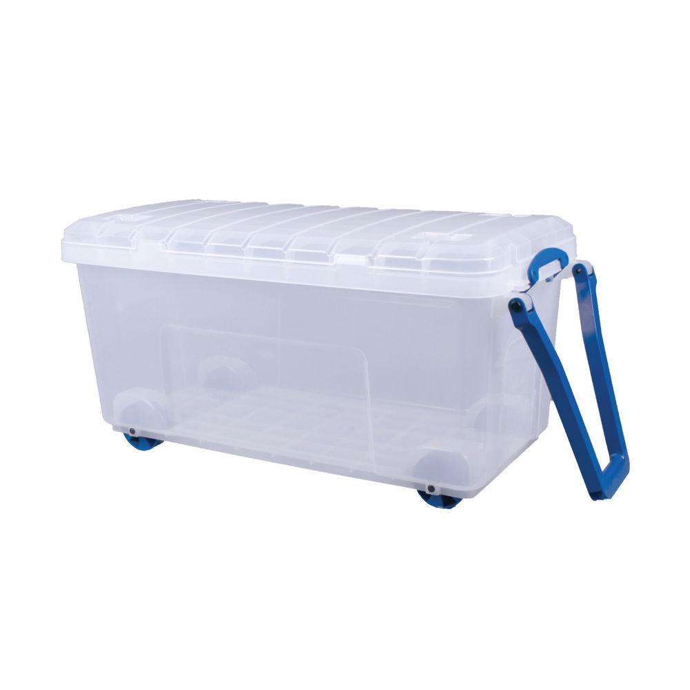Really Useful 160L Plastic Storage Box Clear 160LG-WHTR-CCB