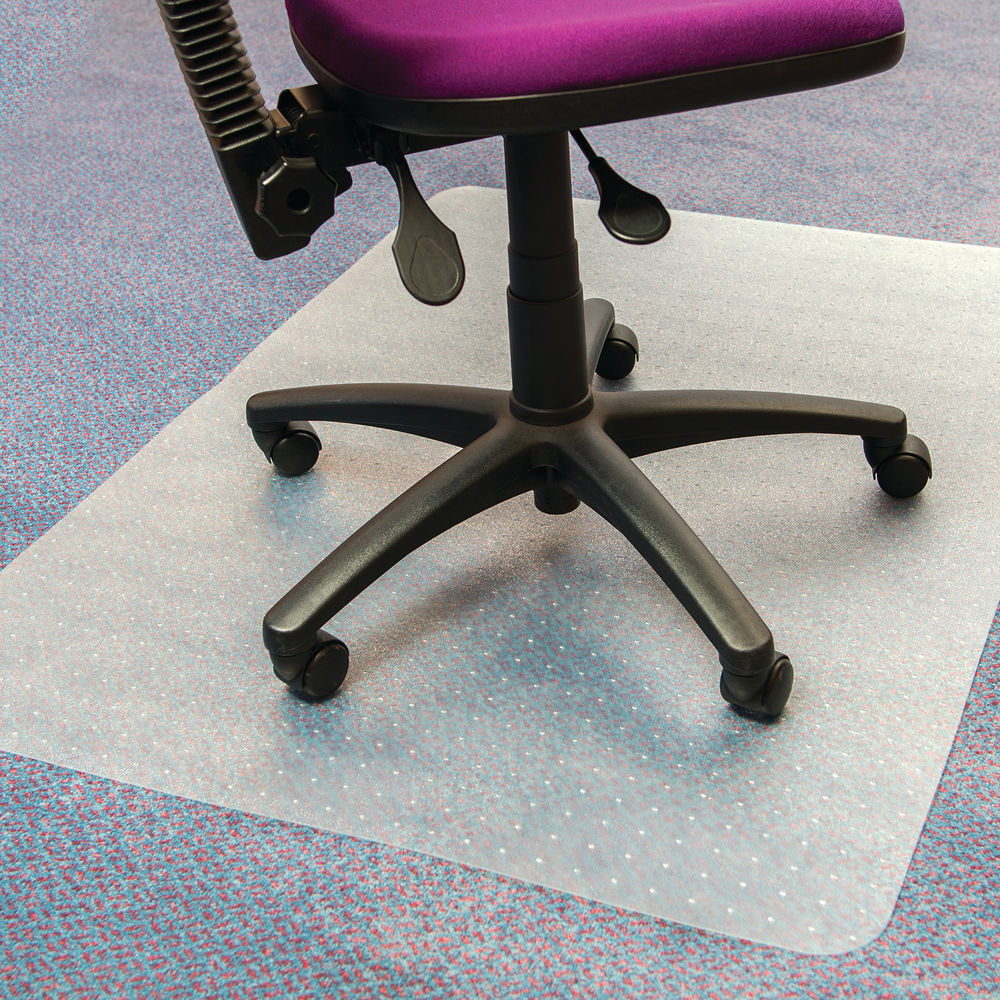 Cleartex Valuemat PVC Chair Mat 1200 x 900mm Clear FC119020EV