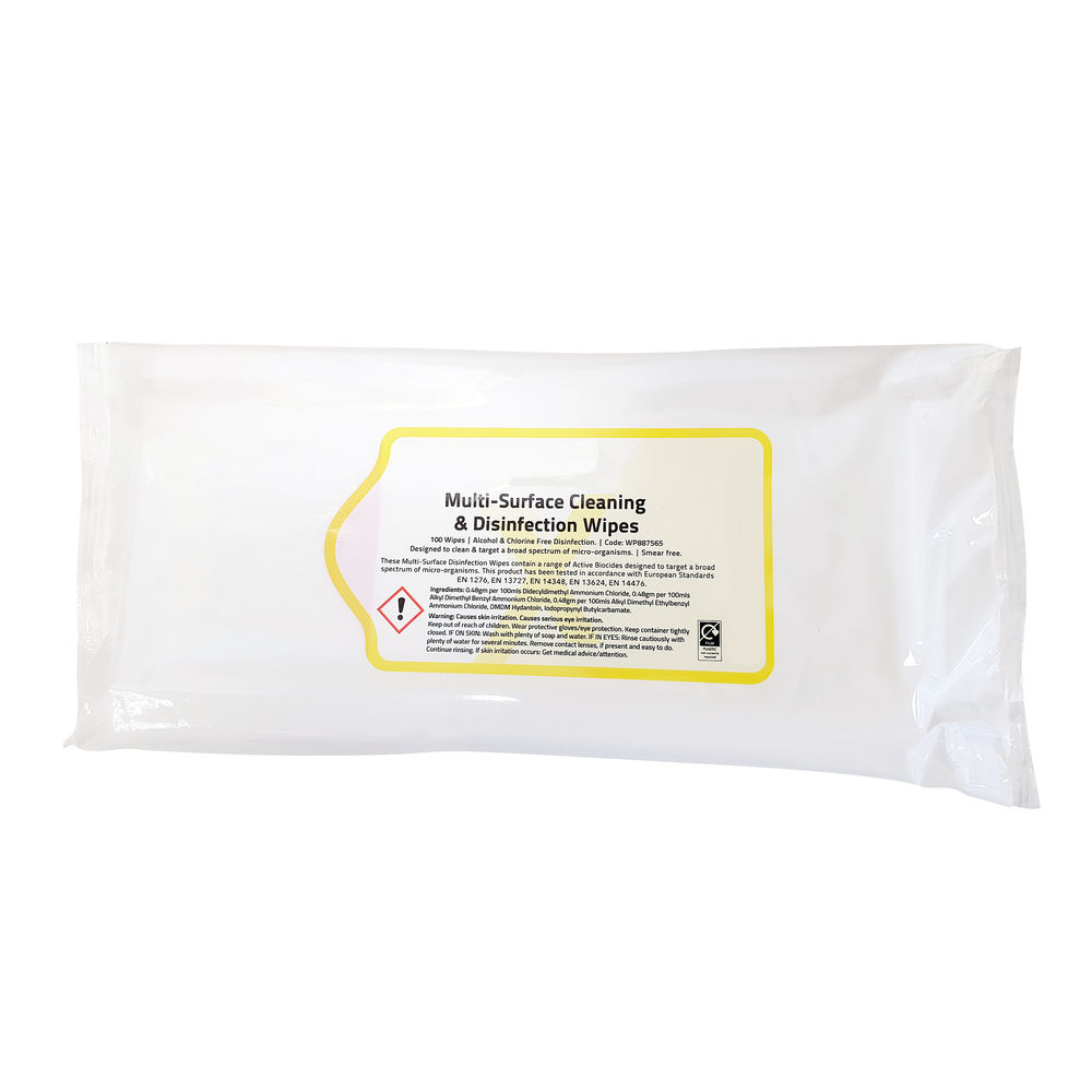 Multisurface Cleaning and Disinfection Wipes (Pack of 100) EDISWIP