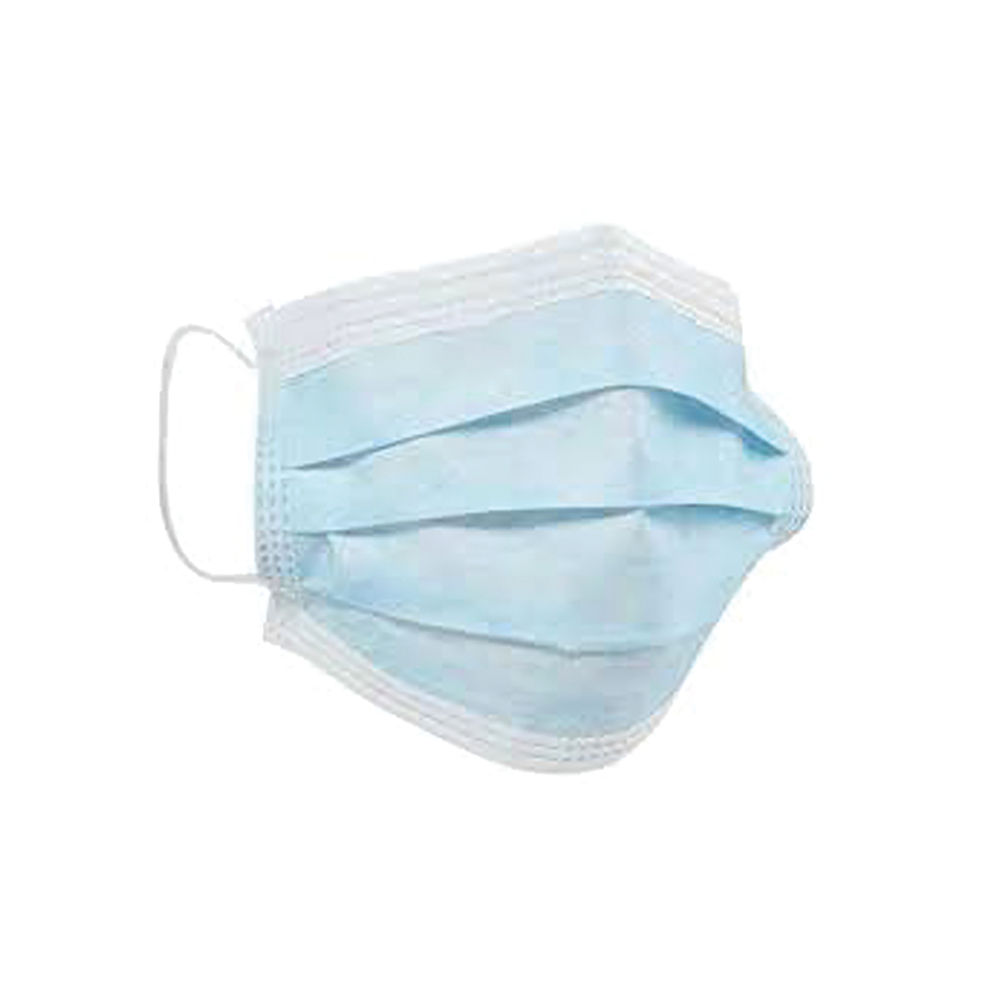 Disposable Face Mask 3-Ply Ear Loop Blue/White (Pack of 50) CM1740CT