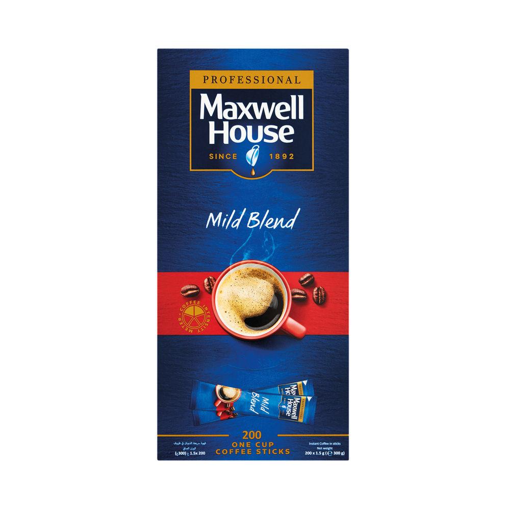 Maxwell House 750g Mild Blend Instant Sticks, Pack of 200 - 4041138