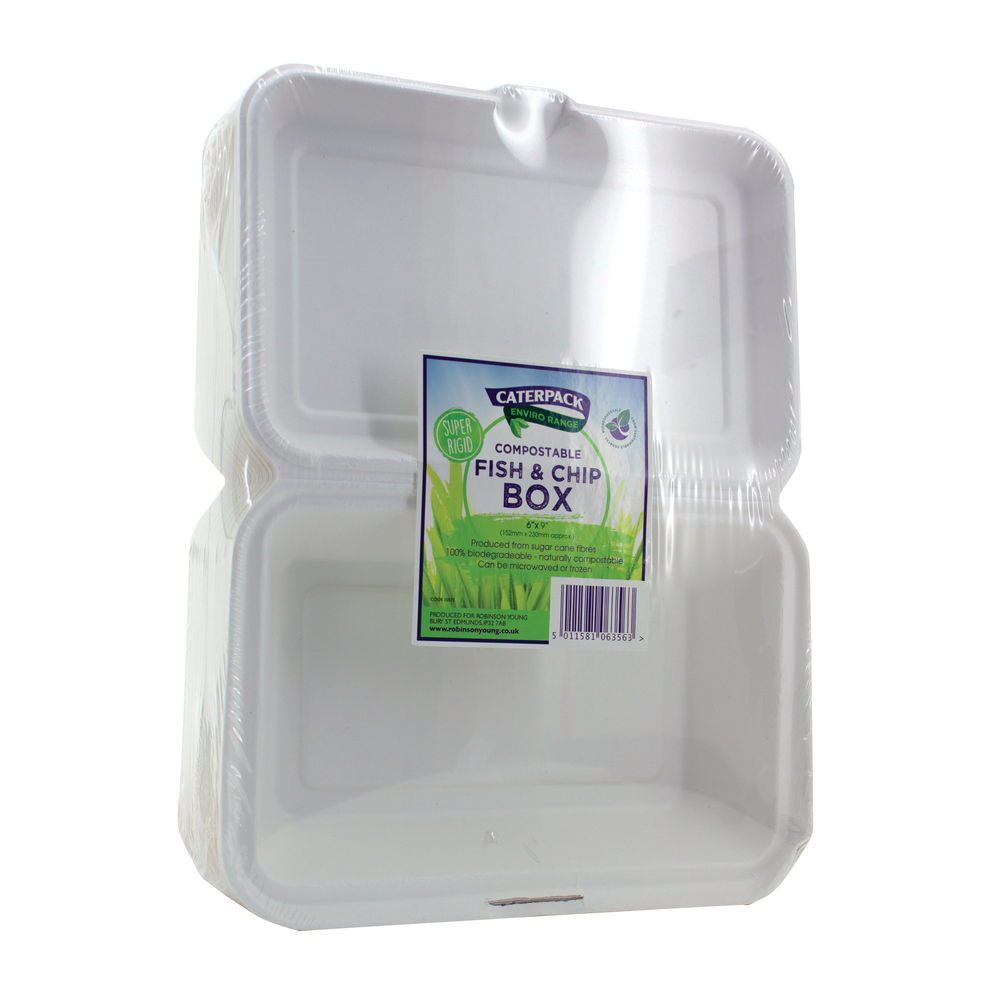 Caterpack Biodegradable Hinged Fish and Chip Containe -  RY10573/B030