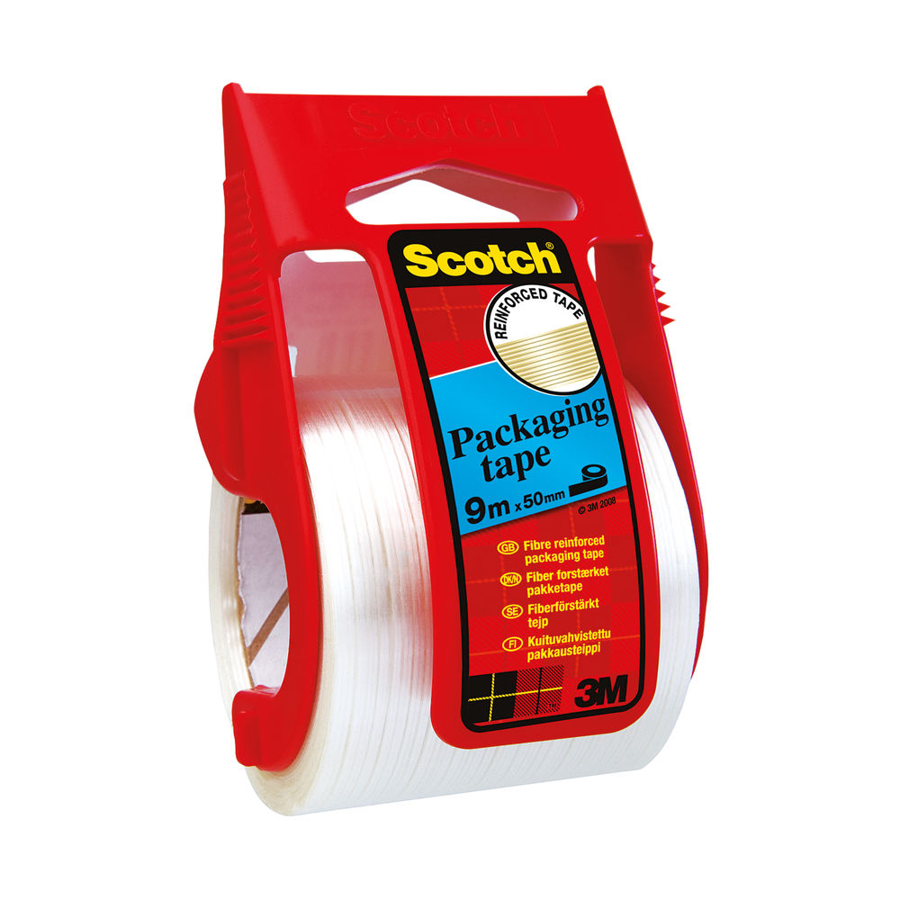 Scotch 50mm x 9m Reinforced Packaging Tape and Dispenser - X.5009D