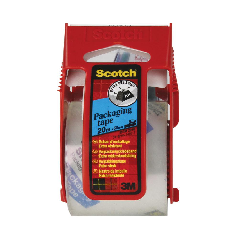 Scotch 50mm x 20m Reinforced Packaging Tape and Dispenser - E.5020D