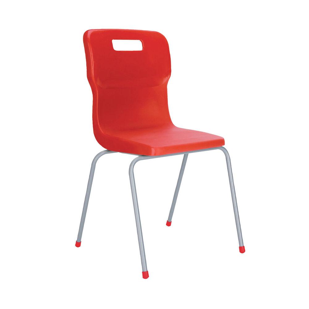 Titan 380mm Red 4-Leg Chair