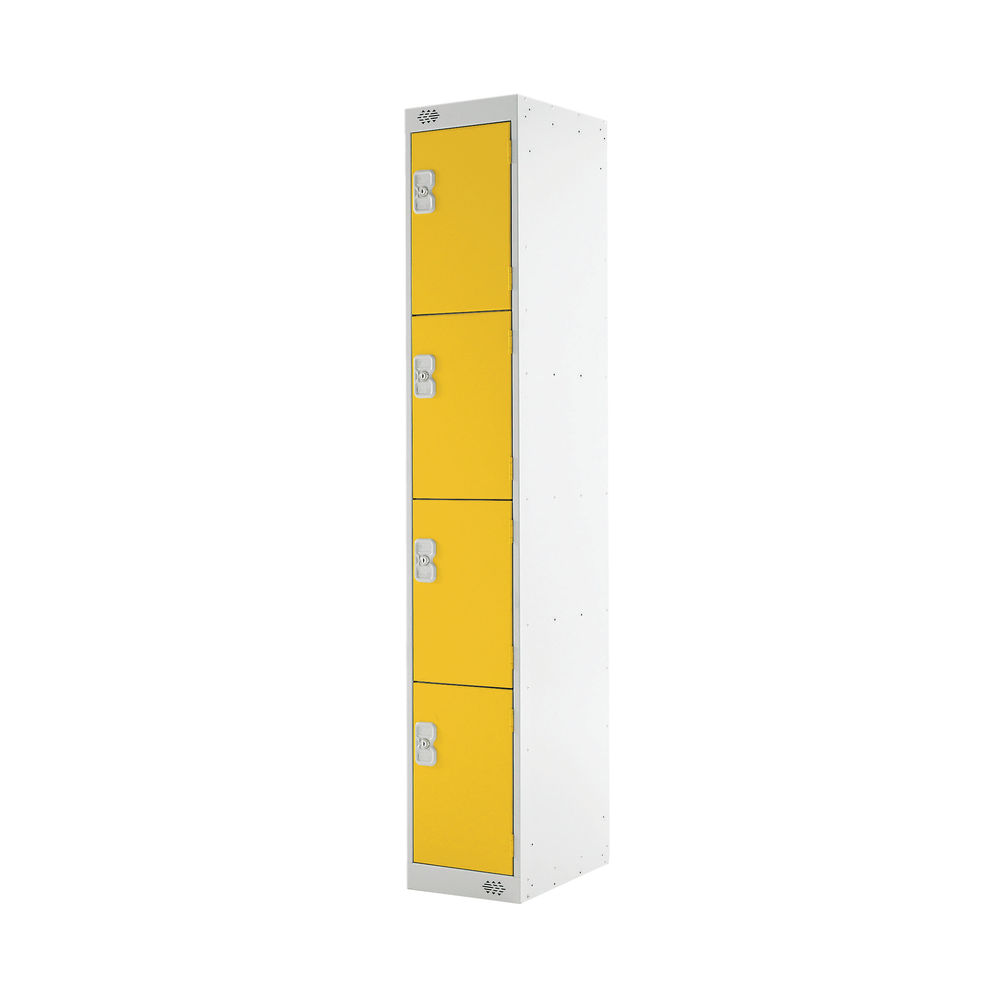 Four Compartment D300mm Yellow Locker - MC00024