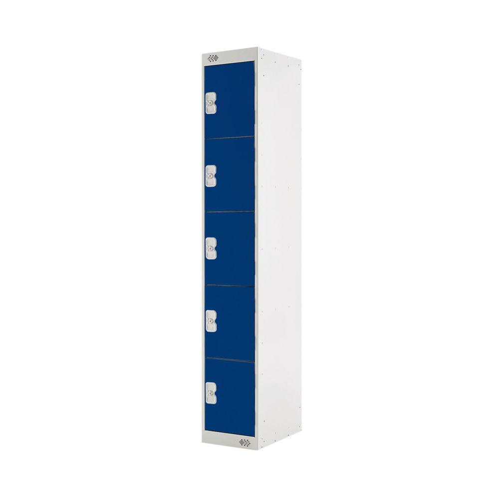 Five Compartment D300mm Blue Locker - MC00025