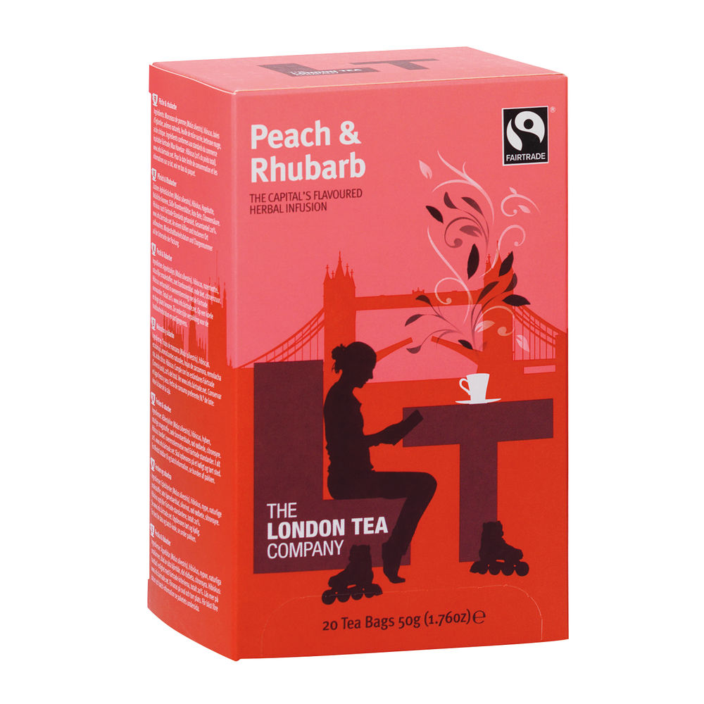 London Tea Peach and Rhubarb Tea (Pack of 20) FLT19155