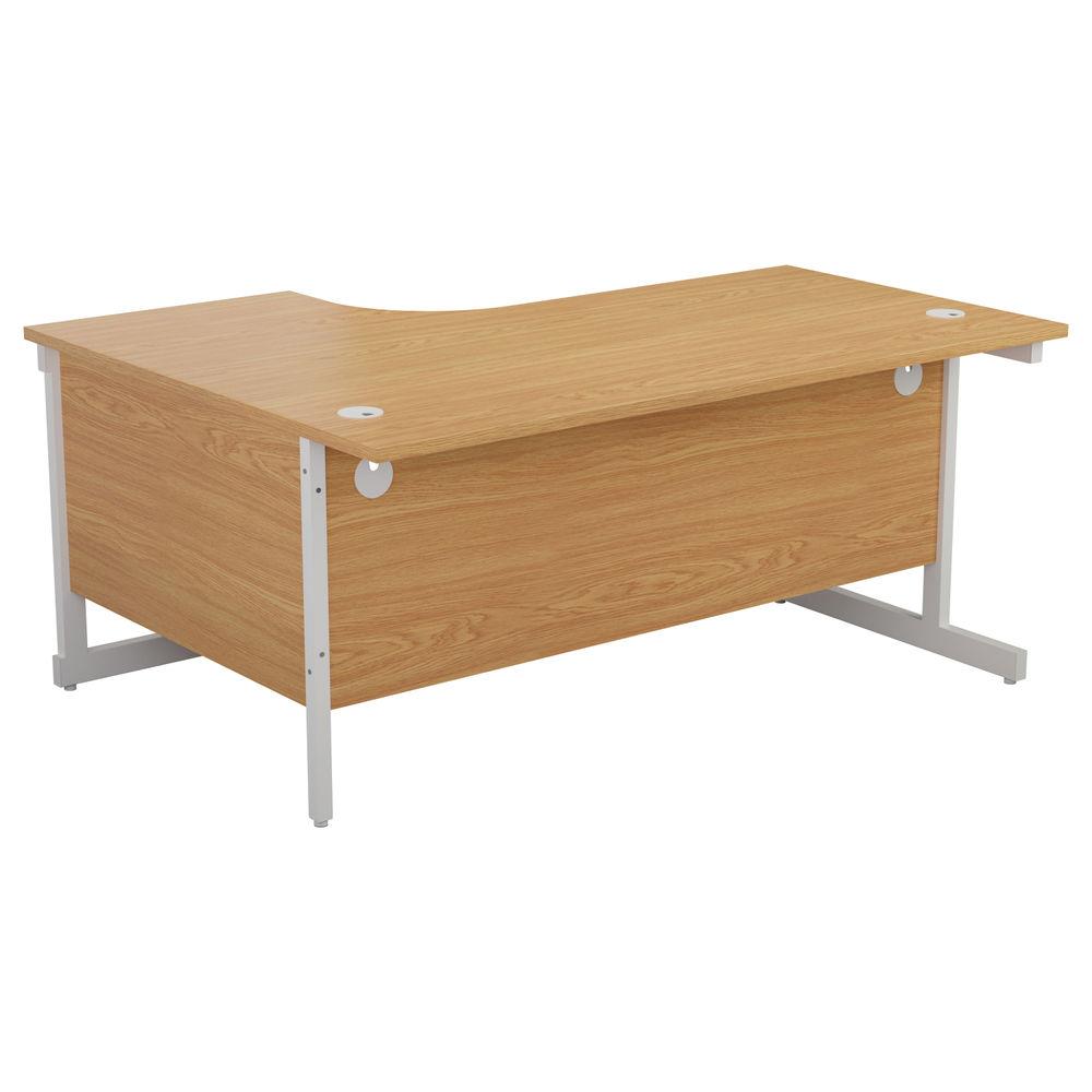 Jemini 1600mm Nova Oak/White Right Hand Radial Desk