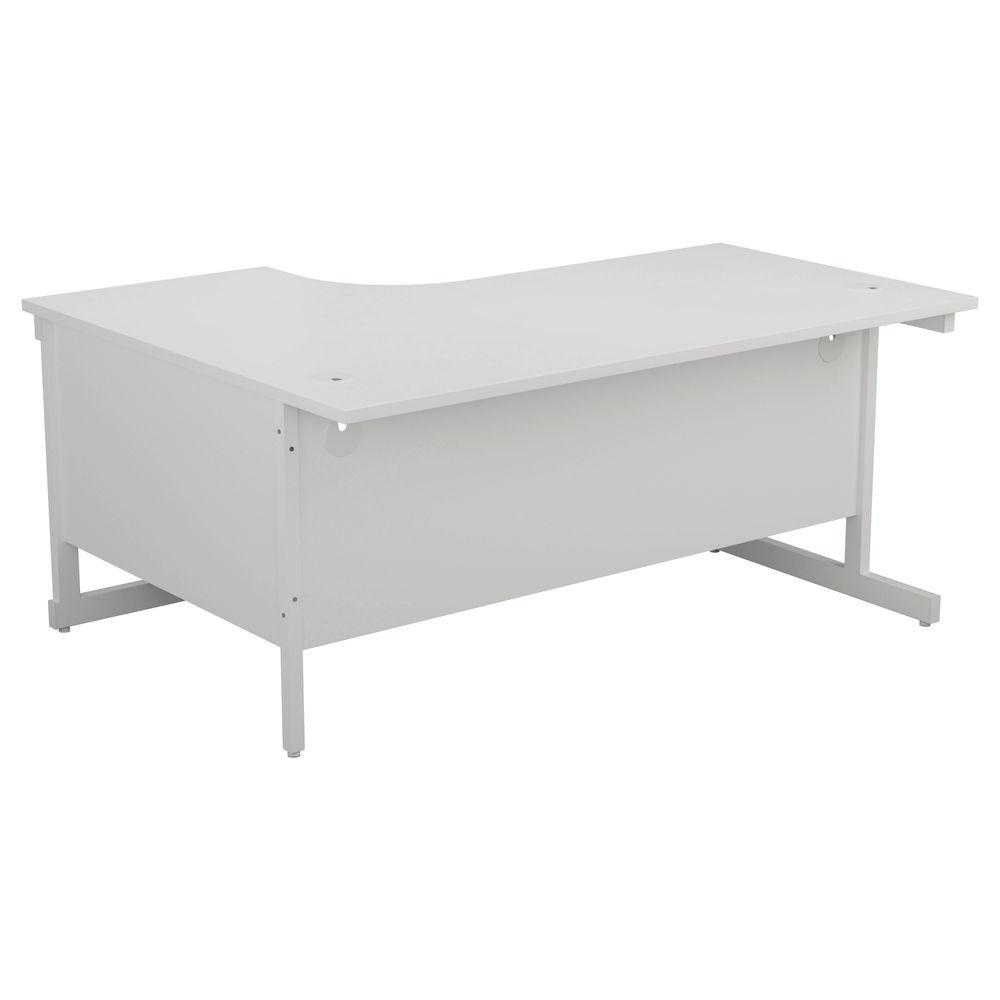 Jemini 1600mm White/White Right Hand Radial Desk