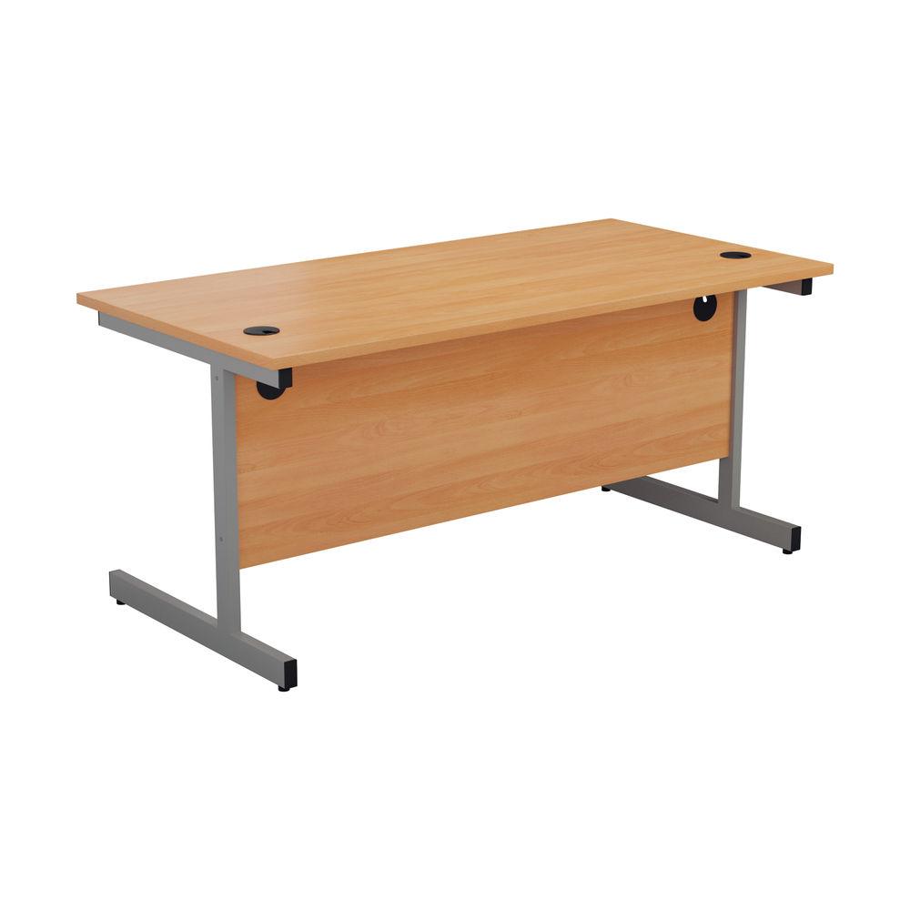Jemini 1800x800mm Beech/Silver Single Rectangular Desk