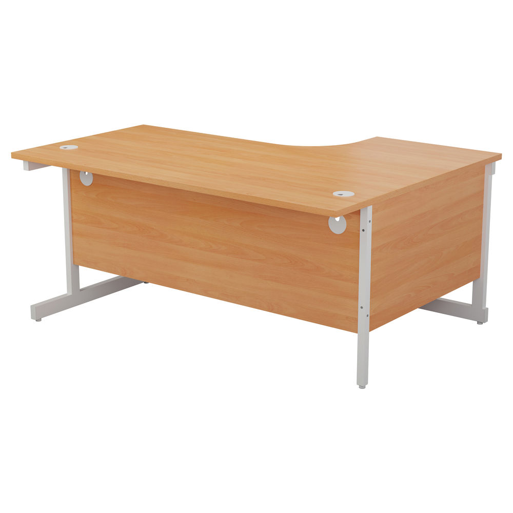 Jemini 1800mm Beech/White Left Hand Radial Desk