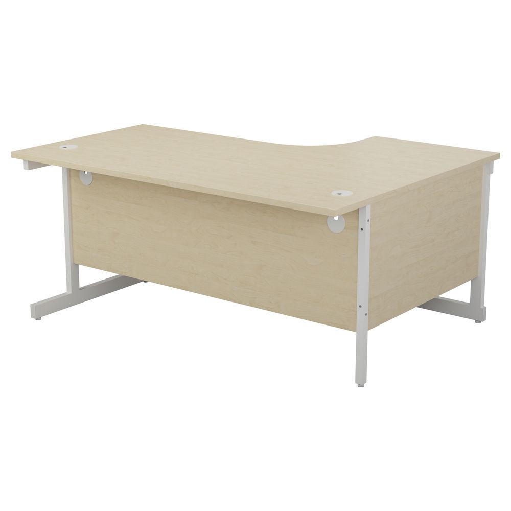 Jemini 1800mm Maple/White Left Hand Radial Desk