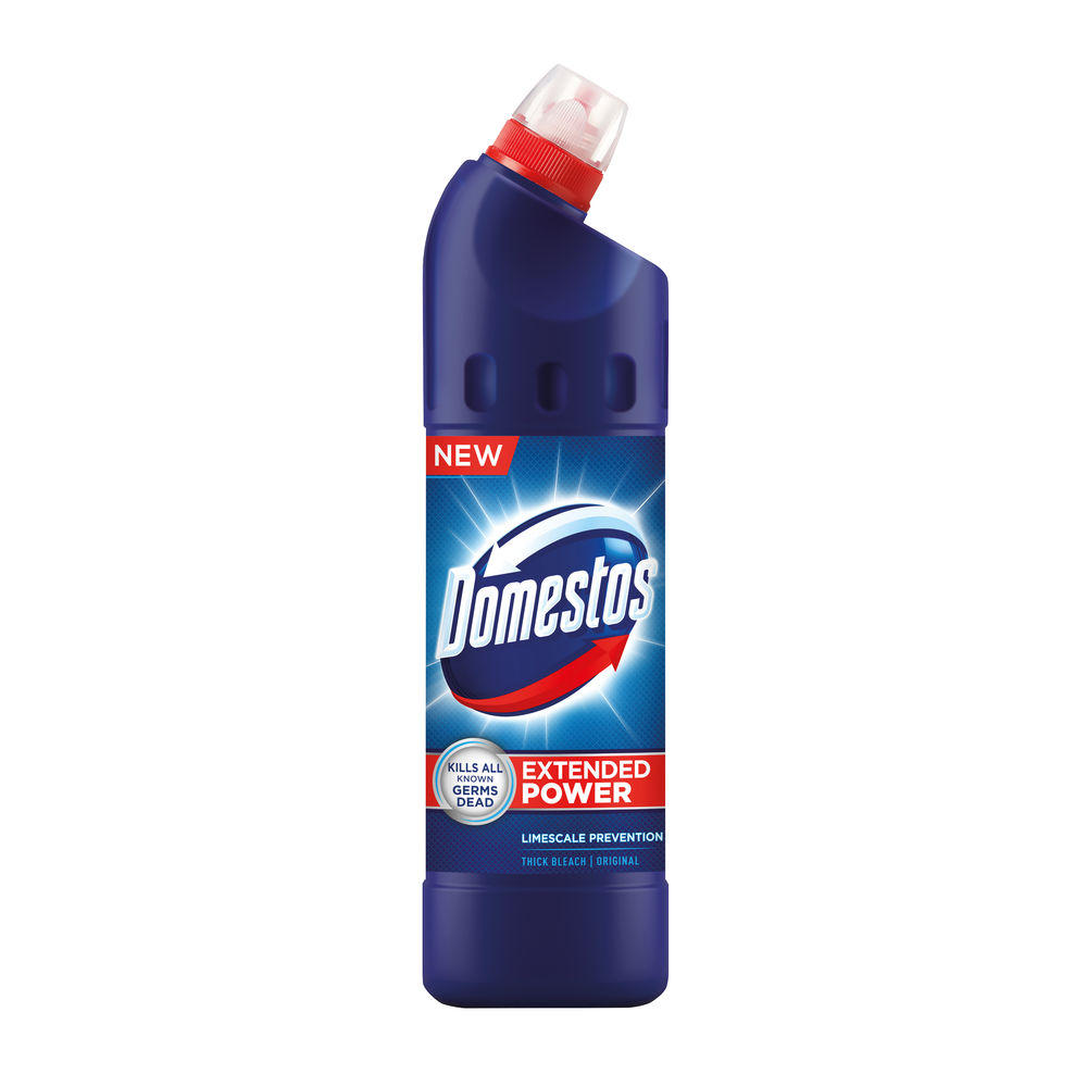 Domestos 750ml Thick Bleach, Pack of 9 100879718
