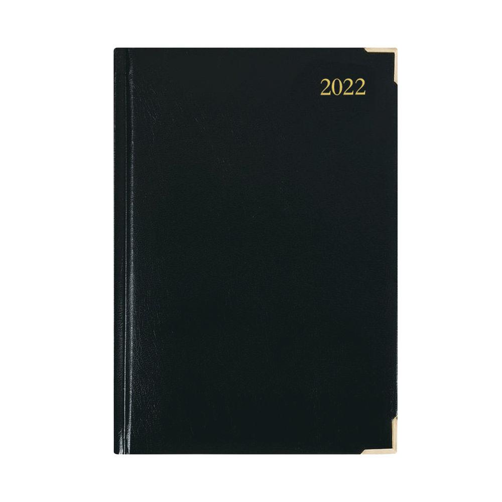 Executive Diary Day Per Page A5 Black 2022 KFEA51BK22