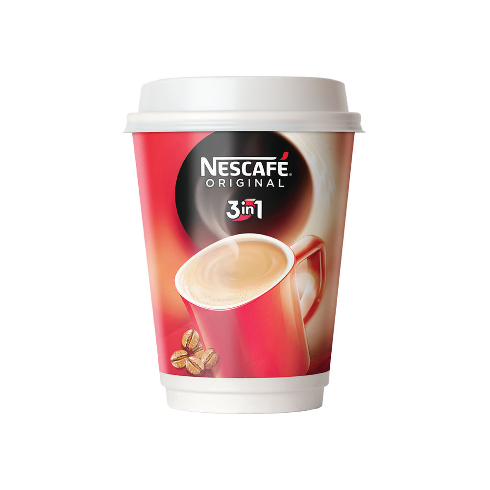 Nescafe and Go 3 in 1 White Coffee Cup - Pack of 8 - 12234501