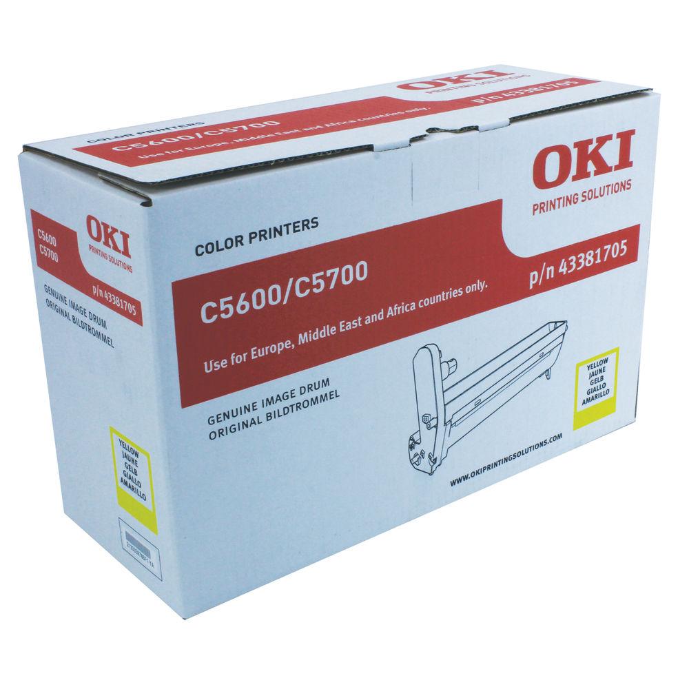 Oki C5600 Yellow Image Drum (20,000 Page Capacity) 43381705