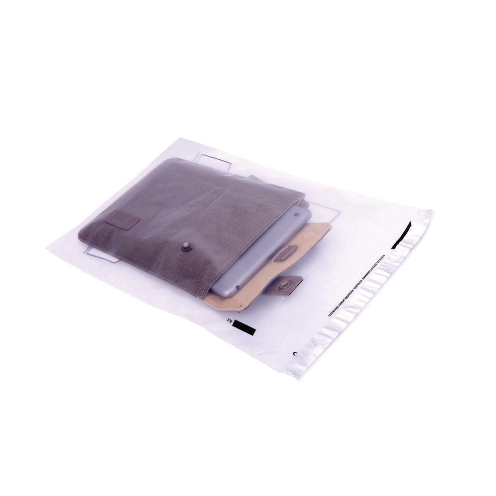 Go Secure Lightweight C4 Clear Polythene Envelopes, Pack of 100 - PB09100