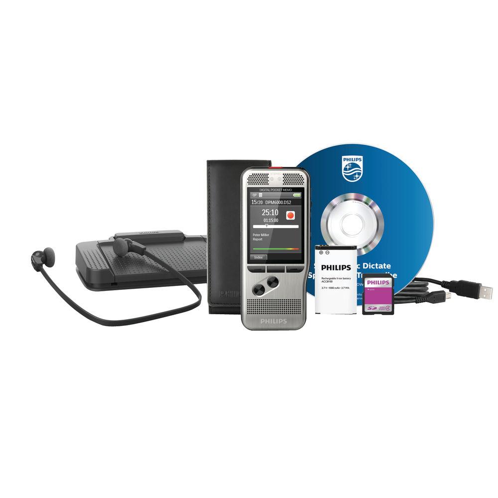Philips Silver Digital Dictation Starter Kit DPM6700