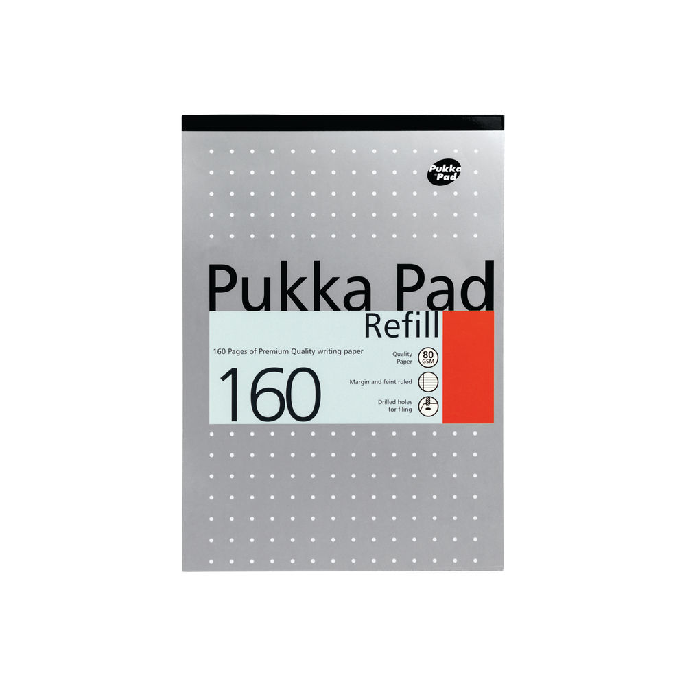 Pukka Pad Metallic Colours A4 Feint Ruled Refill Pads (Pack of 6) - REF80/1