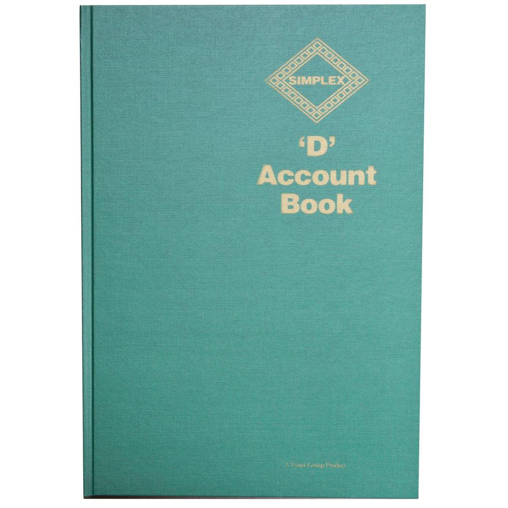 Simplex Green Hardback D Accounts Book, Full Year - D