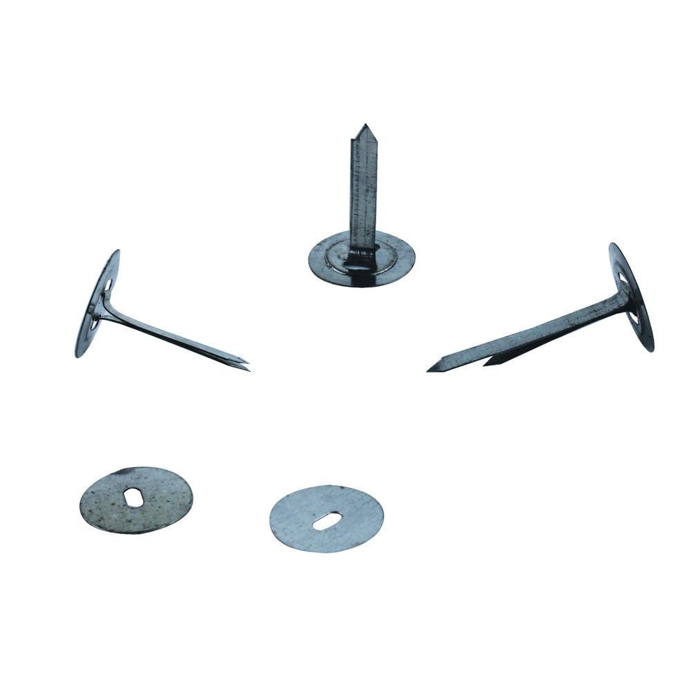 Basics Tinned Steel 25mm Paper Binders, Pack of 200 - 36311