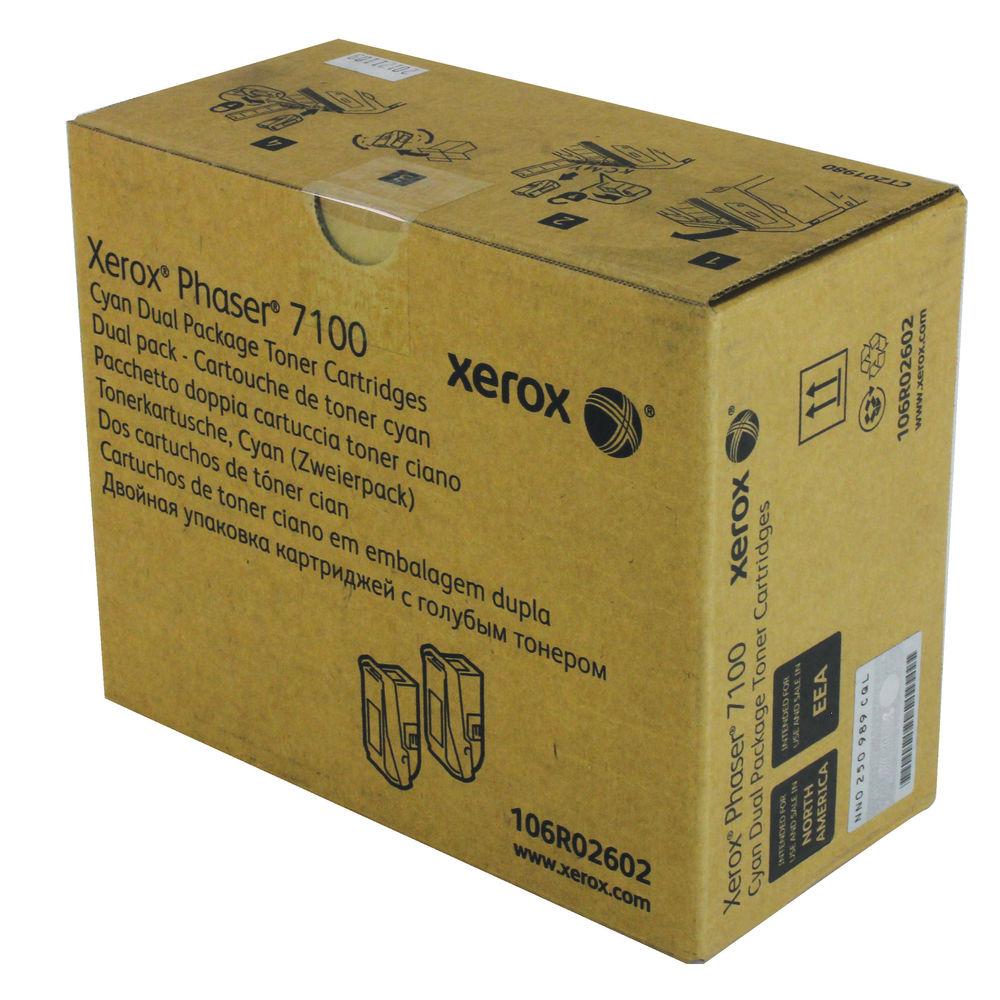 Xerox 7100 Cyan Toner Twin Pack - 106R02602