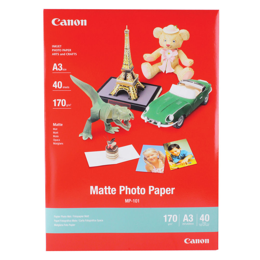 Canon A3 Matte Photo Paper, 170gsm - 40 Sheets - 7981A008