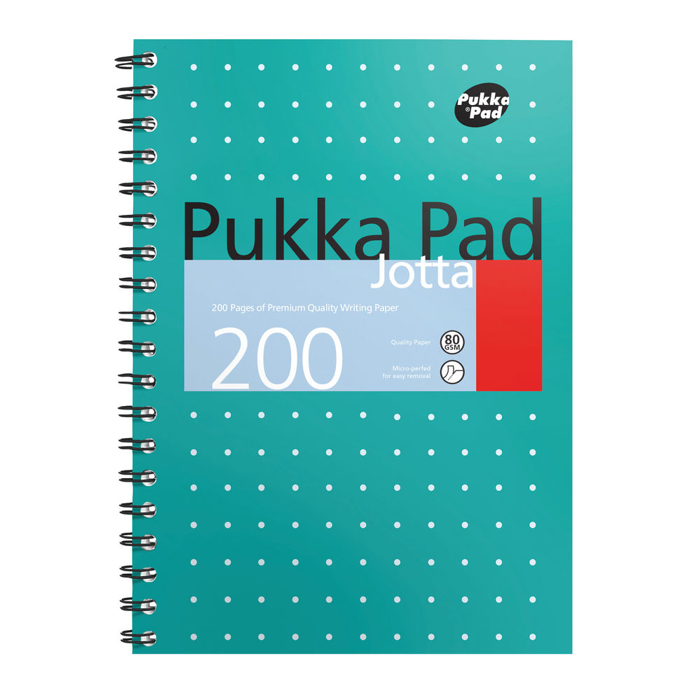 Pukka Pad B5 Metallic Cover Wirebound Jotta Notebooks, Pack of 3 - 8520-MET
