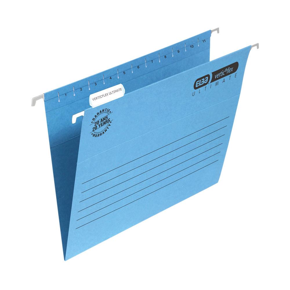 Elba Suspension File Manilla A4 Blue (Pack of 25) 100331149