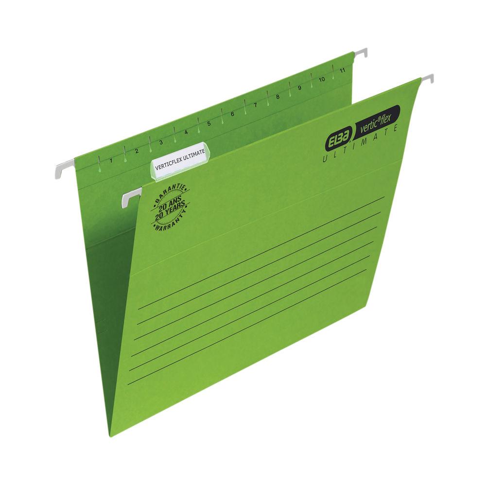 Elba Suspension File Vflex Vbtm A4 Green (Pack of 25) 100331150