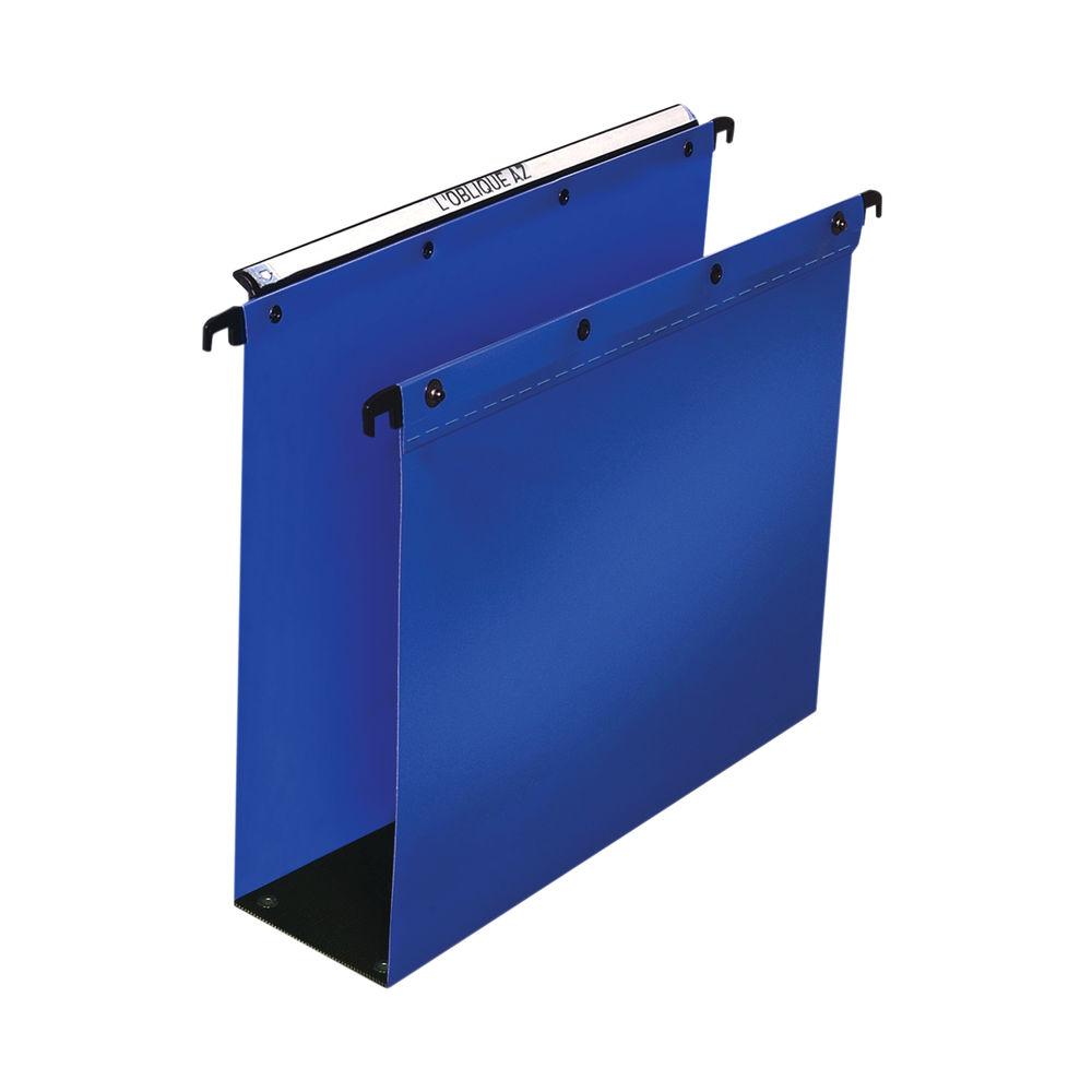 Elba Suspension File PP Foolscap Blue (Pack of 10) 100330417