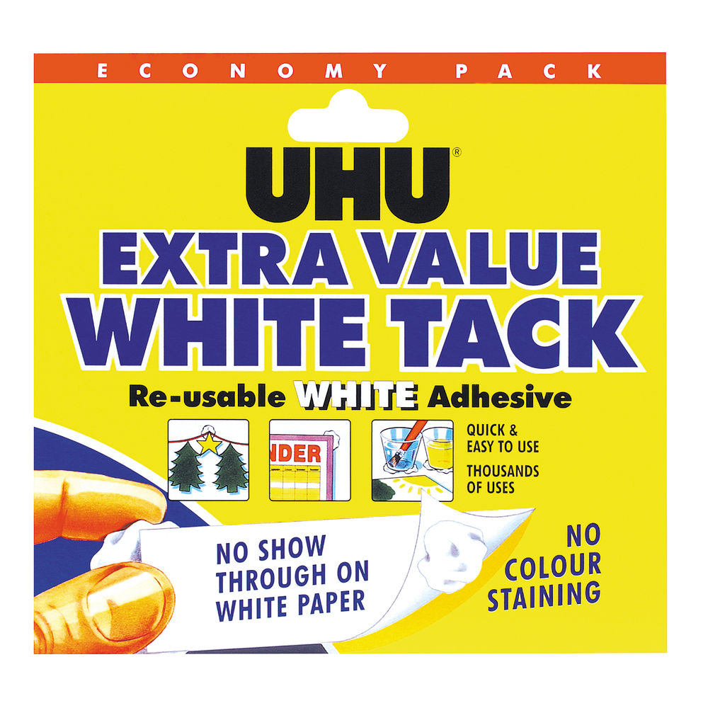 UHU 100g White Tack, Pack of 6 | 43527