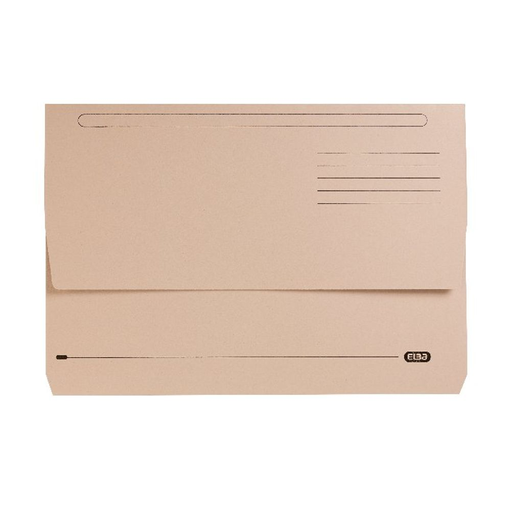 Elba StrongLine Buff Foolscap Document Wallets, Pack of 25 - 400053600