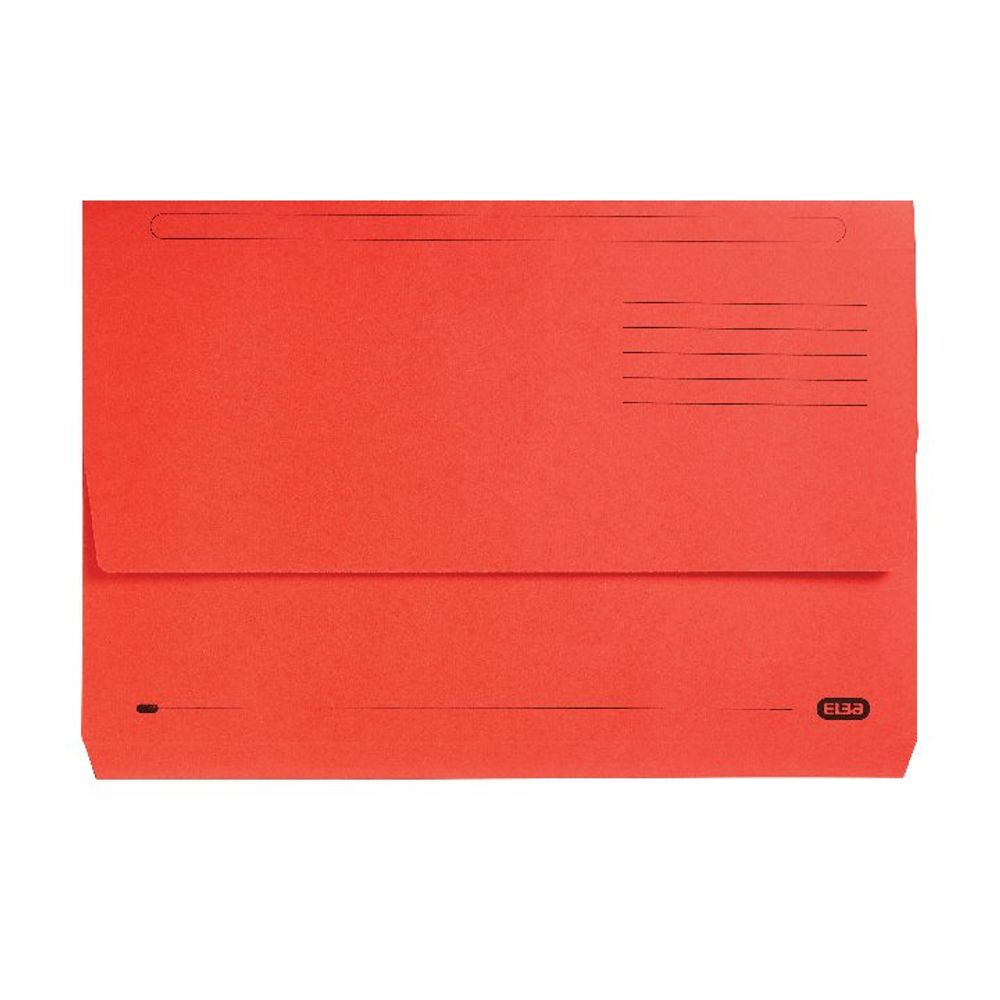 Elba StrongLine Red Foolscap Document Wallets, Pack of 25 - 100090136