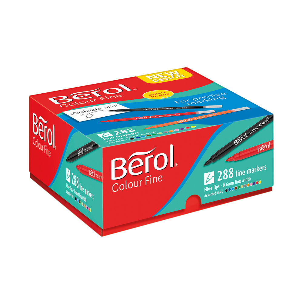 Berol Colour Fine Class Assorted (Pack of 288) 2057601