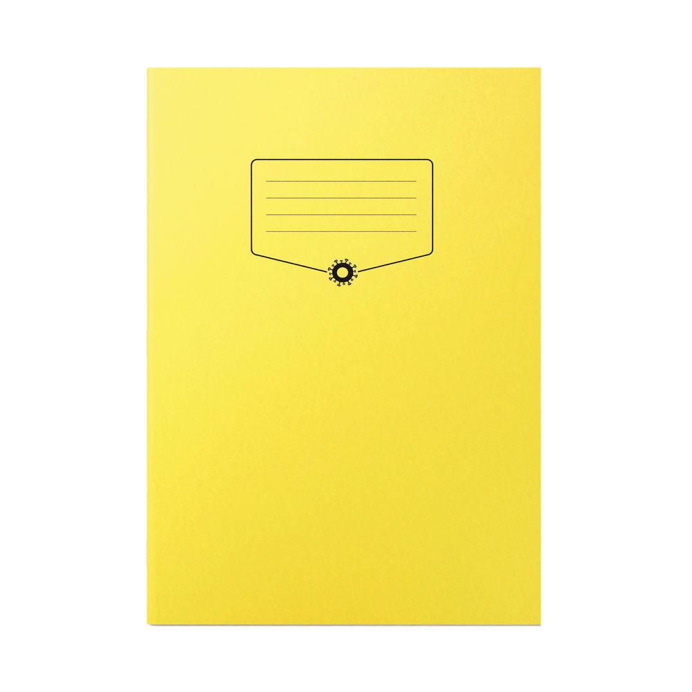 Silvine Bacoff Exercise Book Ruled with Margin A4 Yellow (Pack of 10) EXBAC141