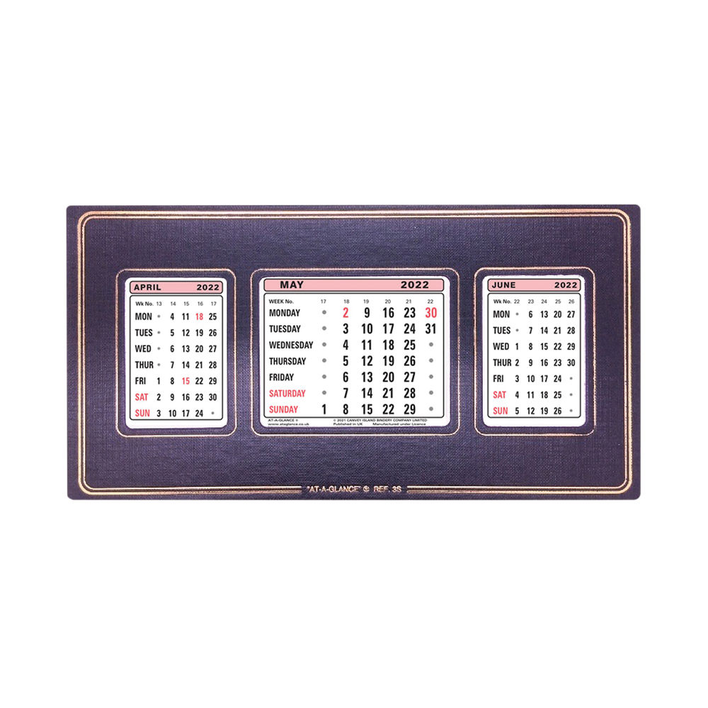 At-A-Glance Refillable Calendar 2022 3 Month View 3S22